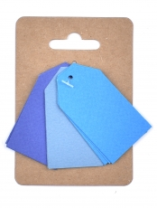 Murano Paper Tags 3 x 4 cm, 3 colours x 4 pcs - Blues