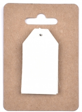 White Pearlescent Tags 3 x 4 cm, 12 pcs Mist
