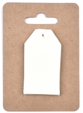 White Pearlescent Tags 3 x 4 cm, 12 pcs Capiz