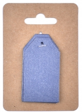 Dark Blue Pearlescent Tags 3 x 4 cm, 12 pcs