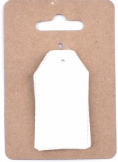Soft White Murano Paper Tags 3 x 4 cm, 12 pcs