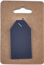 Dark Blue Murano Paper Tags 3 x 4 cm, 12 pcs