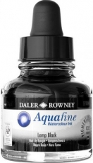 Black Watercolour Ink Daler-Rowney Aquafine 29 ml - Lamp Black