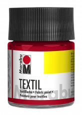 Fabric Paint for Light Coloured Textiles (Washing Machine Resistant) Marabu Textil - Cherry