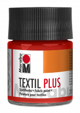 Fabric Paint for Dark Coloured Textiles (Washing Machine Resistant) Marabu Textil Plus - Light Vermillion