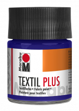 Fabric Paint for Dark Coloured Textiles (Washing Machine Resistant) Marabu Textil Plus - Dark Violet