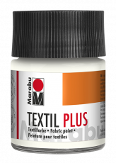 Fabric Paint for Dark Coloured Textiles (Washing Machine Resistant) Marabu Textil Plus - White
