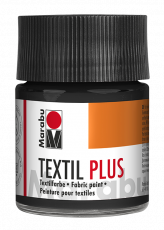 Fabric Paint for Dark Coloured Textiles (Washing Machine Resistant) Marabu Textil Plus - Black