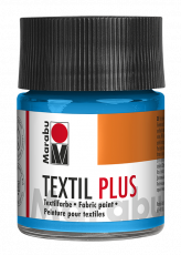 Fabric Paint for Dark Coloured Textiles (Washing Machine Resistant) Marabu Textil Plus - Light Blue