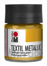 Metallic Gold Fabric Paint Marabu Textil