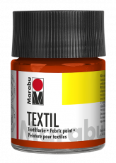 Fabric Paint for Light Coloured Textiles (Washing Machine Resistant) Marabu Textil - Apricot
