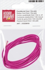 Rubber Cord 1.5 m Ø 2 mm pink