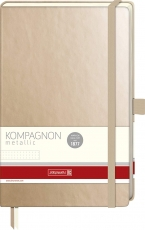 Dotted Notebook Kompagnon : Gold :  80 gsm : 96 sheets : 12.5 x 19.5 cm