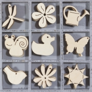 Wooden Ornament Box - Flowers/Аnimals