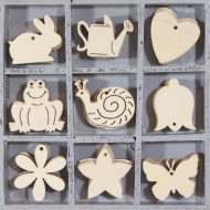 Wooden Ornament Box - Flowers/Animals