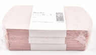 Pack of 10 Pearlescent Card Pillow Gift Boxes 9 x 10 cm - Pink