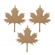 12 Paper Maple Leaf Cuts Outs - Autumn Party Supply