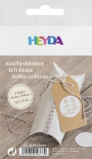 Pack of 6 Card Pillow Gift Box Heyda - Cream 90 x 125 mm