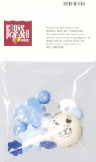 Pacifier Chain Decoration - Wooden Bead Mix Teddy Blue