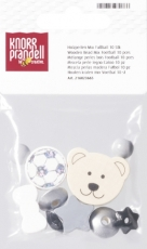 Pacifier Chain Decoration - Wooden Bead Mix Football Black/White