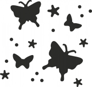 Heyda Flexi : All-Over the Page Magnetic Craft Punch : Butterflies