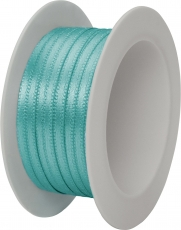 Stewo Turquoise Satin Ribbon 3 mm width, 5 m length