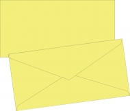 Yellow Envelope DL (110 mm x 220 mm)