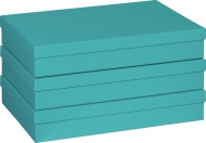 One Colour Gift Box Stewo : 23.5 x 33 x 6 cm : A4 : Turquoise