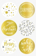 Stickers New Year Silver