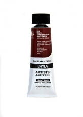 DR acrylic Cryla 75ml 519  rich trans. red oxide