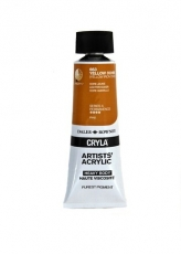 DR acrylic Cryla 75ml 663  yellow ochre