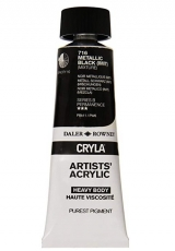 DR acrylic Cryla 75ml 716  metallic black imit