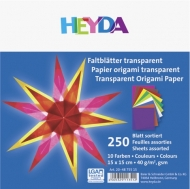 Transparent Origami Paper Heyda 15 x 15 cm, 250 sheets