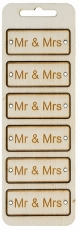 Plywood Card Topper - Mr & Mrs