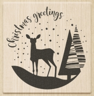 Knorr Prandell Rubber Stamp - 70 x 70 mm - Christmas Greetings