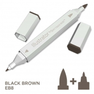 Spectrum Noir Illustrator Alcohol Marker - Black Brown (EB8)