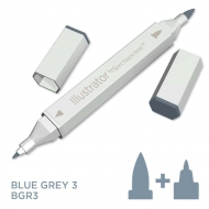 Spectrum Noir Illustrator Alcohol Marker - Blue Grey 3 (BGR3)