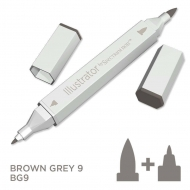Spectrum Noir Illustrator Alcohol Marker - Brown Grey 9 (BG9)