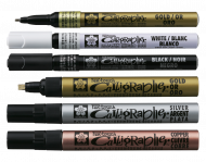 Sakura Pen Touch Gold Calligrapher Paint Marker Pen, Medium, 5 mm