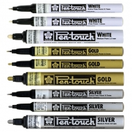 Sakura Pen Touch Silver Paint Marker Pen, Fine, 1 mm