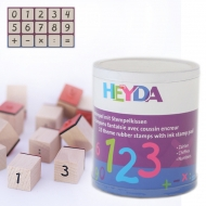 Heyda stamp 15+1 pc 78-Numbers