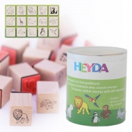 Heyda stamp 15+1 pc 91-Zoo