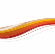 Quilling Strips 130 gsm 5 Colours, 25 pcs Each Colour - Orange