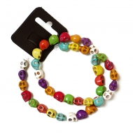 Be pretty string howlite skull 08*10 mm coloured ~