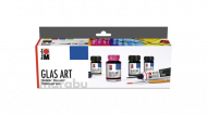 Marabu set GlasArt 4 col * 15 ml, brush, contour
