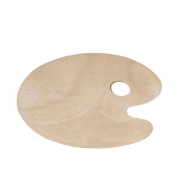 Wooden Oval Palette 20 x 30 cm, 5 mm thick