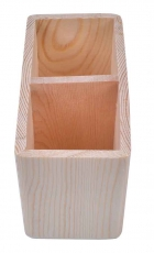 Wooden Pencil Holder with 2 Slots 16 x 8 x 10 cm