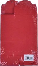Pack with 10 Red Stand Up Box Bags 125 x 72 x 42 mm