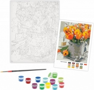 Rosa Paint by Numbers Acrylic Kit - Standart - Yellow Tulips