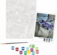Rosa Paint by Numbers Acrylic Kit - Standart - Pansies